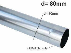 Zink Fallrohr rund d= 80mm  2m (1St a'2m)
