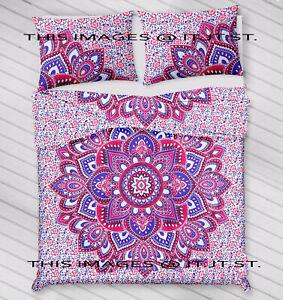 Indian Cotton Blanket Duvet Cover + 1 Tapestry+ 2 pillow Bohemian Mandala Hippie