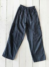 Gringo Fair Trade Nepalese Black Striped Cargo Combat Cotton Hippy Trousers