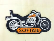 VINTAGE OFFICIALLY LICENSED HARLEY DAVIDSON SOFTAIL MOTORCYCLE PATCH