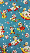 RETRO ROCKET RASCALS Fabric by Michael Miller Cotton by the yard