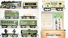 Mintish RARE Modern MARX US ARMY Train Set with Special Sign Boards -9 PIECE Set