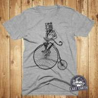 Tiger on a Bike Tshirt, Vintage Bike Shirt Penny Farthing Bicycle, Bike Gift