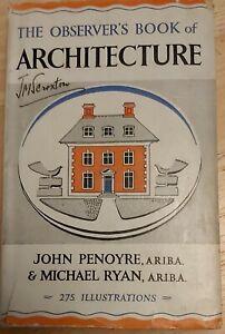 THE OBSERVER'S BOOK OF ARCHITECTURE - JOHN PENOYRE & MICHAEL RYAN - WARNE