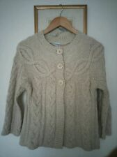 Atmosphere womens beige cable knitted cardigan UK 8-10 button