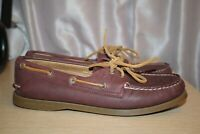 SPERRY Top- Sider Whale Tale Embossed 2-Eye Boat Shoe Women's US 8.5 Leather