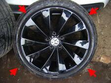 "VW Scirocco Genuine Gloss Black Turbine alloy wheels 18"" plastic factory coating"