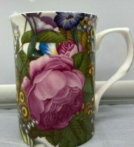 "Pink Peony Flowers Stechcol Cup Mug New  10 oz 4  "" High"
