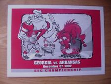 2002 Georgia Bulldogs vs. Arkansas Rare SEC Championship Art Print