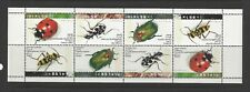 ISRAEL SCOTT # 1192a BEETLES INSECTS BOOKLET PANE OF 8 MNH
