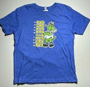 Sugar Land Skeeters Unisex Graphic T-Shirt Swatson Mascot Royal Youth XL New