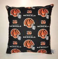 Bengals Pillow Cincinnati Bengals NFL Pillow Handmade in USA