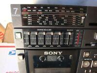 Sony CFS-9900 Mini Stereo, 7 Band, SW, Shortwave, AC-DC, 12VDC min, 240VAC max.