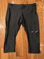 NIKE RUNNING DRI-FIT Women's Capri Black Size Small