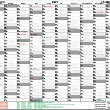 Wandplaner 2020 DIN A1 gefaltet Wandkalender Kalender Jahr Plan KW groß Feiertag