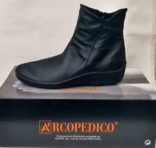 Arcopedico Shoes L19 Comfort Ankle BOOTS - 7 Colours 39 Black Plain