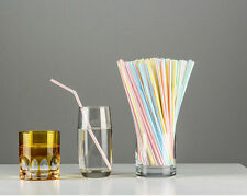 80x Plastic Stripe Retro Stripe FOR Party Drinking Straws Birthday Wedding