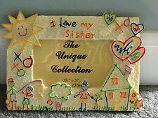 """ I Love My Sister"" Kids Picture Frames 3.5 3 1/2 X 5 tabletop work office desk"