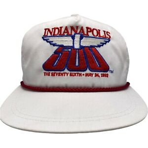 Vintage Indianapolis Indy 500 1992 76th Snapback Trucker Hat Rope K-Products USA