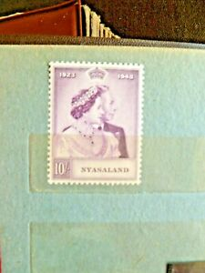 British Colony of Nyasaland, 1948, single, rare & valuable stamps, SCV is $15.00