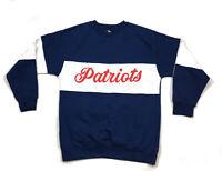 NFL New England Patriots Colorblock Script Sweatshirt Fan Cloth Men's L