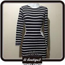 TOPSHOP PETITE Bodycon Cutout Stripes Dress Size 10 ( 22 E)