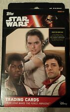 Star wars trading cards The Force Awakens 16 cards in box