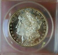MORGAN SILVER DOLLAR 1887 S ANACS MS 62 PASTEL TONED VAM 2 TOP 100 RARE PQ