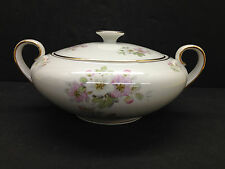 Bavaria Tirschenreuth Apple Blossom Lidded Serving Bowl Germany Pasco 246
