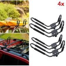 4X Heavy Duty Shape Bars Canoe Kayak Carrier Car Roof Rack + Straps Universal