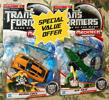Transformers Movie Dark of the Moon Nitro Bumblebee + Air Raid New Sealed Lot