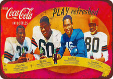 1950s African-American Football Stars Vintage Reproduction Metal Sign 8 x 12