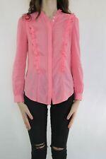 COUNTRY ROAD Pink Ruffle Shirt Top Size XS