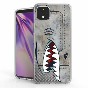For Google Pixel 4 XL  Hybrid  Bumper Shockproof Case SpitFire Metal Shark