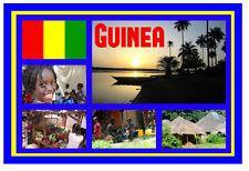 GUINEA,ÁFRICA OCCIDENTAL RECUERDO ORIGINAL IMÁN DE NEVERA MONUMENTOS/CIUDADES