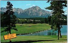 JASPER NATIONAL PARK, Alberta  . Canada 2 Postcards of the 16th HOLE   c1950s