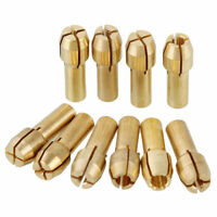 10pcs 0.5-3.2mm Copper Electric Drill Chuck Collet Clip Bit Set for  Dremel CN