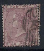 Großbritannien 1856 Mi. 14 Gestempelt 40% 6 Pence, Victoria, Königin