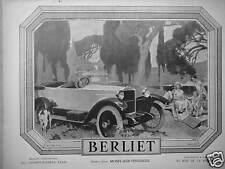 PUBLICITÉ 1924 VOITURE BERLIET USINES A LYON MONPLAISIR-VÉNISSIEUX -ADVERTISING