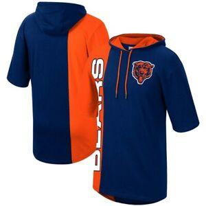 Chicago Bears Split Hoodie T-Shirt Navy Orange Plus Sizes Mitchell & Ness NFL