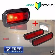 Rear Bumper Bulb Red Fog Light Lamp + Side Marker Accord Civic Acura Prelude JDM
