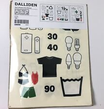 IKEA Dalliden Home Organization Decal Laundry Recycle Stickers 3 Sheet NEW