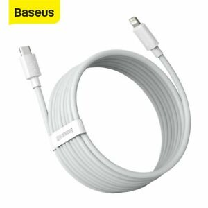 2X Baseus PD 20W USB Type C For Apple Fast Charger Charging Cable For iPhone 12