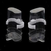 2 Stück Wasserspender Trinkflasche mit Clip für Vogel, Papagei, Wellensittich,