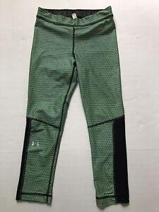 Under Armour Women's S Neon Green Armour Ankle Crop Leggings Capri