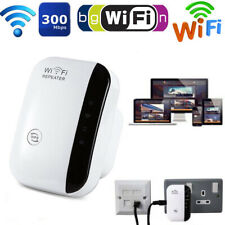 300Mbps Wireless Wifi UK EU Plug Repeater Range Extender Router Booster Antennas