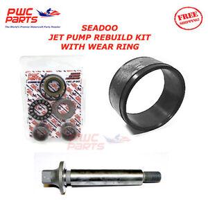SeaDoo Jet Pump Rebuild Kit Wear Anello Impeller Shaft SP SPI XP SPX GTX 720