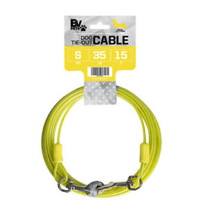 BV Pet Tie-Out Cable for Small Dogs Up To 35 lbs 15 Ft 5D