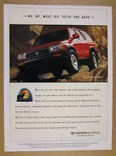 1996 Toyota 4Runner 4-runner red truck photo vintage print Ad