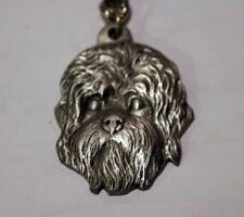 Rawcliff pewter dog keychain, I love my Dandie Dinmont Terrier